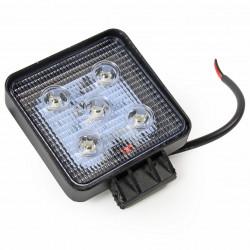 LAMPA ROBOCZA LED KWADRATOWA 10-30V, 1500LM, 5 LED X 3W