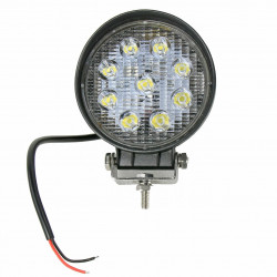 LAMPA ROBOCZA LED OKRĄGŁA 2250 LM, 9 LED X 3W 55MM