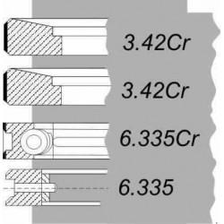 KPL. PIERŚC. SW-400/ANDORIA (BIZON)  6CT107 107.29MM